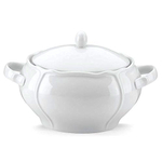 The French Chefs Maria Porcelain White 2.5 Quart Soup Tureen