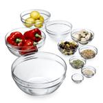 Luminarc 10 Piece Glass Stackable Round Prep Bowl Set