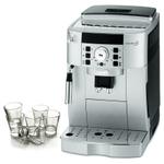 DeLonghi Magnifica XS Silver Super Automatic Espresso Machine with Free Set of 6 Italian Espresso Shot Glasses