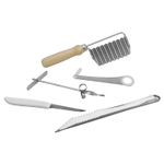 Scandicrafts Stainless Steel 5 Piece Garnishing Tool Set