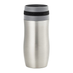 Chantal Single Serve Easy Stainless Steel Vacuum Insulated 10 Ounce Travel Mug with Black Silicone Band