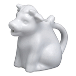 HIC Harold Import Co White Porcelain 2 Ounce Mini Cow Creamer