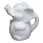HIC Harold Import Co White Porcelain 7 Ounce Elephant Creamer