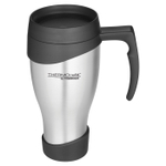Thermos Stainless Steel and Black 24 Ounce Travel Tumbler