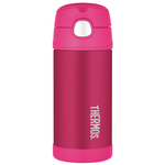 Thermos Funtainer Pink Stainless Steel Vacuum Insulated 12 Ounce Water Bottle