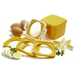Norpo Yellow 5 Piece Egg Slicer Set with Storage Case