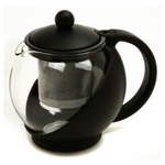 Norpro Eclipse Black 4 Cup Teapot with Mesh Filter