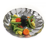 Norpro Stainless Steel Collapsible Vegetable Steamer with Extending Handle