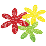 Norpro Green, Yellow, and Red Felt 3 Piece Pan Protector Set