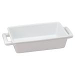 HIC Harold Import Co White Porcelain Individual 8.5 x 5.5 Inch Lasagna Pan