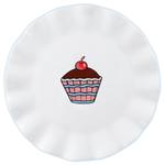 Omniware Earthenware Ruffles Cupcake Plate, Set of 4