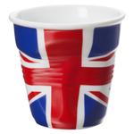 Revol Froisses UK Flag Porcelain 2.75 Ounce Crumpled Espresso Tumbler