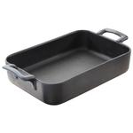 Revol Belle Cuisine Slate Black Porcelain 2.8 Quart Roasting Dish