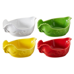 Revol Happy Cuisine Assorted Color Porcelain 7 Ounce Poultry Dish, Set of 4