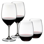 Riedel 4 Piece Vinum XL Cabernet/Sauvignon and O Syrah/Shiraz Red Wine Glass Set