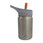 Eco Vessel Scout Kids Silver Express Stainless Steel 13 Ounce Bottle with Straw Top