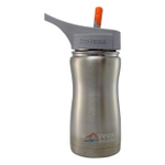 Eco Vessel Frost Kids TriMax Triple Insulated Silver Express Stainless Steel 13 Ounce Bottle with Straw Top