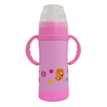 Eco Vessel Sippy TriMax Triple Insulated Pink with Butterflies 10 Ounce Sippy Bottle with Nuk Spout