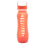 Eco Vessel Surf Glass 22 Ounce Water Bottle with Orange Slice Silicone Sleeve and Screw Lid