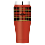 Thermos Heritage Red Plaid Stainless Steel Slide Lock 16 Ounce Travel Tumbler