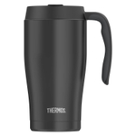 Thermos Black Stainless Steel Vacuum Insulated 22 Ounce Travel Mug