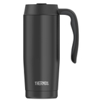 Thermos Black Stainless Steel Vacuum Insulated 16 Ounce Travel Mug