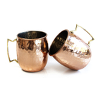 Moscow Mule Hammered Copper 20 Ounce Drinking Mug, Set of 2