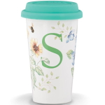 Lenox Butterfly Meadow S Initial 12 Ounce Travel Mug
