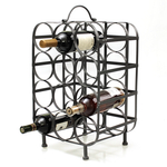 Metal Cube Shaped 12 Bottle Wine Rack