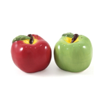 Boston Warehouse Apple Pickin' Earthenware Salt and Pepper Shakers, Set of 2