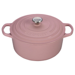 Le Creuset Signature Hibiscus Enameled Cast Iron 4.5 Quart Round Dutch Oven