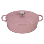 Le Creuset Signature Hibiscus Enameled Cast Iron 5 Quart Oval Dutch Oven