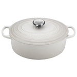 Le Creuset Signature White Enameled Cast Iron 5 Quart Oval Dutch Oven