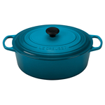 Le Creuset Signature Caribbean Enameled Cast Iron 8 Quart Oval Dutch Oven
