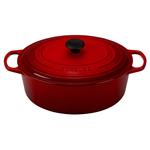 Le Creuset Signature Cherry Enameled Cast Iron 8 Quart Oval Dutch Oven