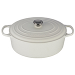 Le Creuset Signature White Enameled Cast Iron 9.5 Quart Oval Dutch Oven