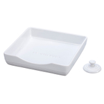 Le Creuset White Stoneware Square Napkin Holder