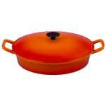Le Creuset Flame Enameled Cast Iron Covered 3.75 Quart Fait Tout Bistro Pan