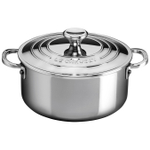 Le Creuset Stainless Steel 3.2 Quart Shallow Casserole with Lid
