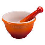 Le Creuset Flame Stoneware 10 Ounce Mortar and Pestle Set