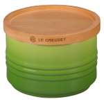 Le Creuset Palm Stoneware 12 Ounce Canister with Wooden Lid