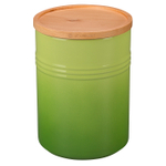 Le Creuset Palm Stoneware 22 Ounce Canister with Wooden Lid
