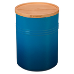 Le Creuset Marseille Stoneware 22 Ounce Canister with Wooden Lid