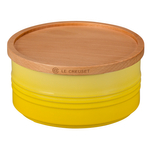 Le Creuset Soleil Stoneware 23 Ounce Canister with Wooden Lid