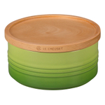 Le Creuset Palm Stoneware 23 Ounce Canister with Wooden Lid