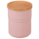 Le Creuset Hibiscus Stoneware 2.5 Quart Canister with Wooden Lid