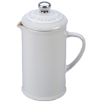 Le Creuset White Stoneware 12 Ounce Petite French Press