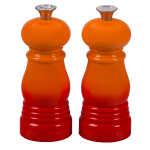 Le Creuset Flame Petite 5 Inch Salt and Pepper Mill Set