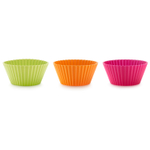 Lekue Silicone Assorted Color 6 Piece Cupcake and Muffin Cup Set