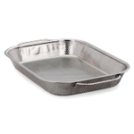 RSVP Stainless Steel BBQ Precision Pierced Roasting Pan